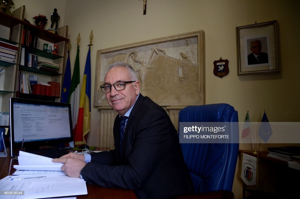 The mayor of Guidonia Montecelio Michel Barbet, elected with the anti-establishment Five Star Movement, sits in his office in Guidonia on February 1, 2018. In the industrial town of Guidonia near Rome, its first Five Star mayor is pulling out all the stops as the populist movement gears up for a shot at national governance. Tall, bespectacled and originally from France, Michel Barbet won the mayoralty last year amid an outpouring of frustration and anger towards the mainstream political parties. /