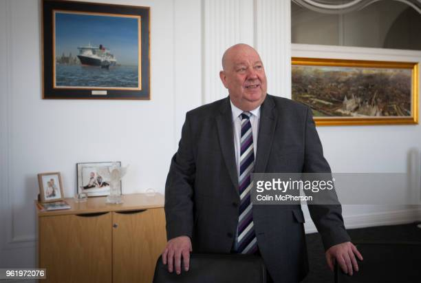 The Mayor of Liverpool, Cllr Joe Anderson, pictured in the mayor's Office within the Cunard Building in Liverpool. Photo by Colin McPherson/Corbis...