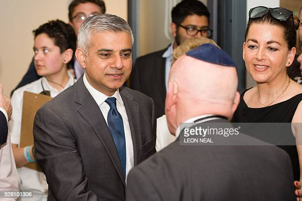 The Mayor of London Sadiq Khan meets Holocaust survivor Ben Helfgott ahead of the Yom HaShoah Commemoration the UK Jewish community's Holocaust...