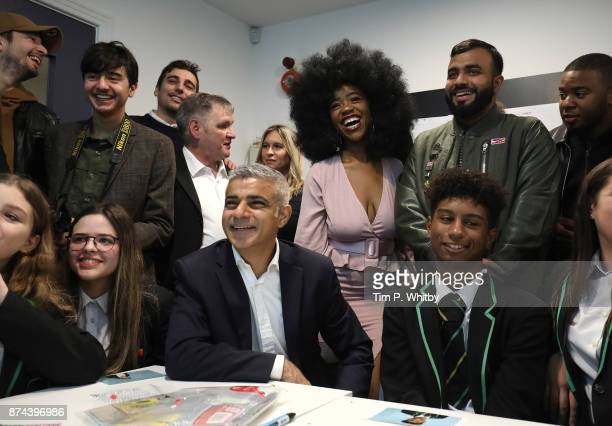 The Mayor of London Sadiq Khan meets with students from Evelyn Grace Academy and influential young Londoners and campaigners during the 'London Needs...