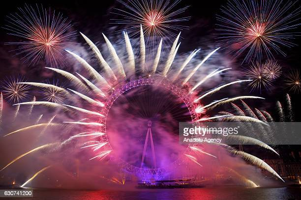 The Mayor of London's New Year firework display takes place in London United Kingdom on January 01 2017