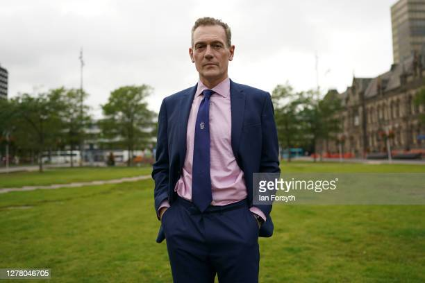 The mayor of Middlesbrough, Andy Preston stops for pictures outside Middlesbrough Civic Centre as he attends meetings on October 02, 2020 in...