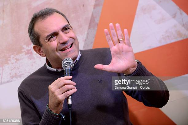 The Mayor of Naples Luigi De Magistris participates in an event organized by the association Alternativeson November 12 2016 in Rome Italy