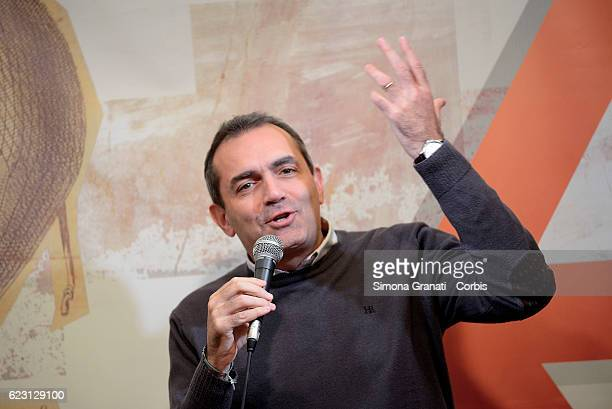 The Mayor of Naples Luigi De Magistris participates in an event organized by the association Alternatives on November 12 2016 in Rome Italy