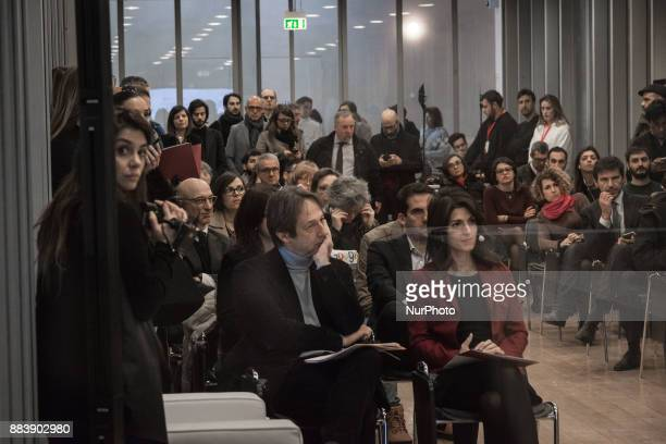 The Mayor of Rome Virginia Raggi and Luca Bergamo anparticipate at the presentation of the exhibition 'Google The Grand Tour of Italy' at the Macro...
