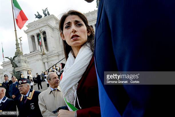 The mayor of Rome Virginia Raggi during celebrations of National Unity Day and Armed Forceson November 4 2016 in Rome Italy