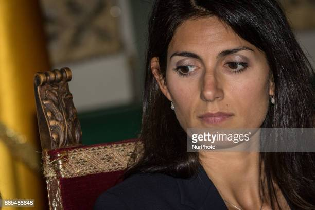 The Mayor of Rome Virginia Raggi during 'Zero Waste' press conference in Rome Italy on 23 October 2017 With this aim Rome hosts until Thursday...