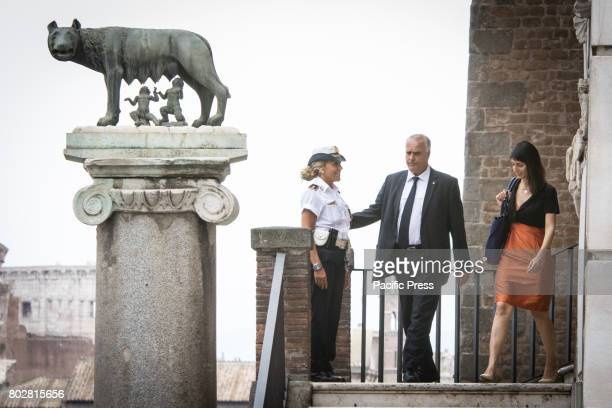 The Mayor of Rome Virginia Raggi goes to the Congress of CISL at the Palace of Congresses