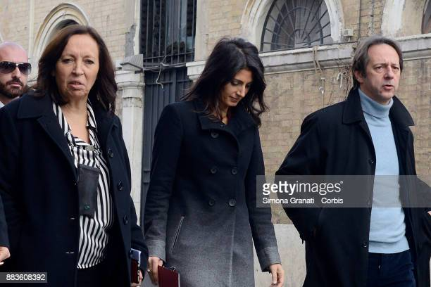 The Mayor of Rome Virginia Raggi Luca Bergamo and Flavia Marzano participate at the presentation of the exhibition 'Google The Grand Tour of Italy'...