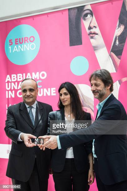 the Mayor of Rome Virginia Raggi the Deputy Mayor Luca Bergamo and the Minister of Cultural Heritage and Activities and Tourism Alberto Bonisoli...