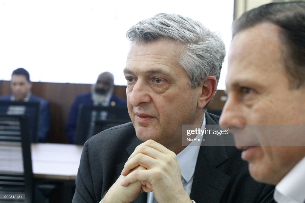 Mayor of Sao Paulo Joao Doria meets the UN Commissioner Filippo Grandi