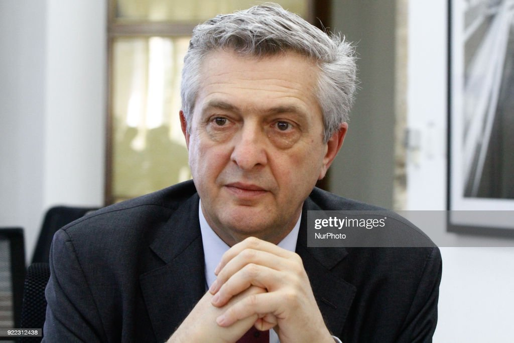 Mayor of Sao Paulo Joao Doria meets the UN Commissioner Filippo Grandi : News Photo