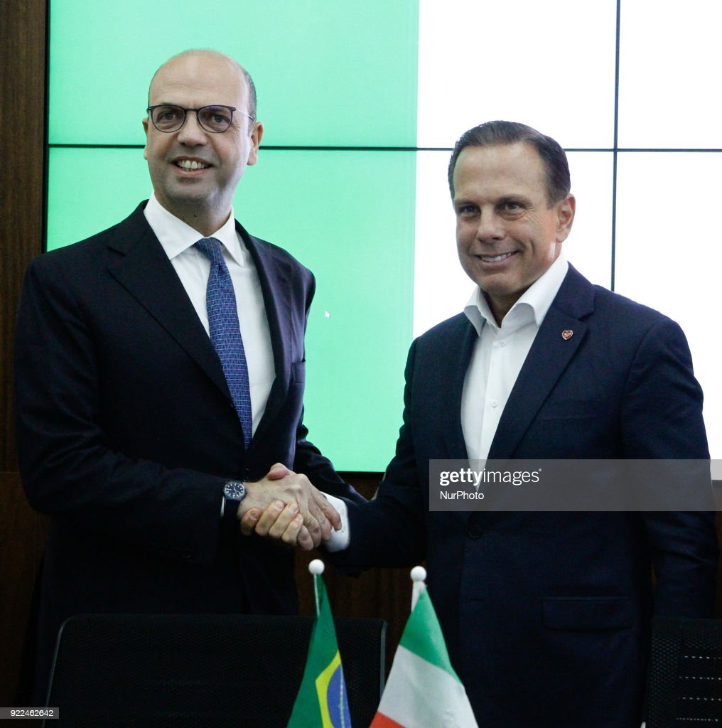 Mayor of Sao Paulo Joao Doria meets the Italian Minister of Foreign Affairs : Fotografía de noticias