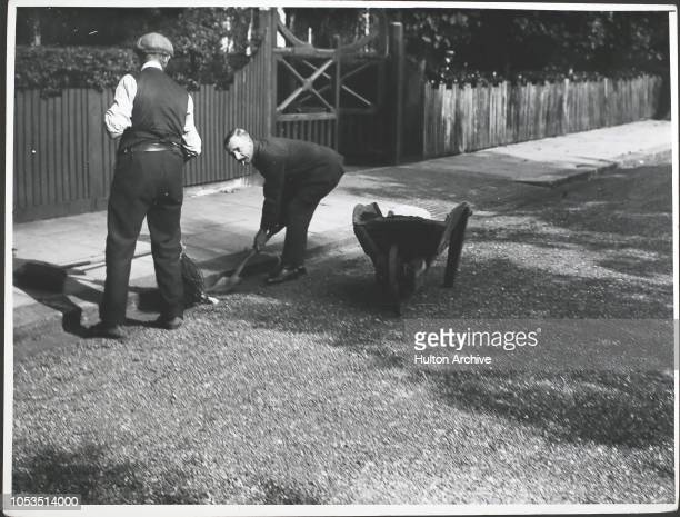 The Mayor volunteers as a roadsweeper during a strike by municipal workers at Southend England