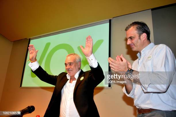 The mayoral candidate for the municipality of Sant VIcents dels Horts Santos Marteo seen speaking at the Sant VIcents del Horts during the event The...