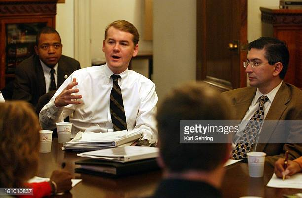 The mayor's chief of staff Michael Bennet spoke during the cabinet meeting Friday morning Denver Mayor John Hickenlooper has assembled a new...