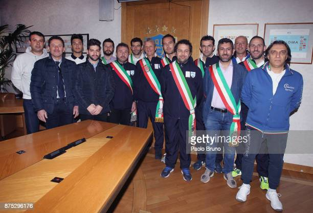The Mayors national team pose during the meeting on November 17 2017 in Rome Italy