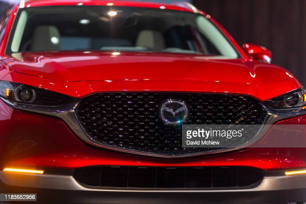 The Mazda CX-30 is shown at AutoMobility LA on November 20, 2019 in Los Angeles, California. The four-day press and trade event precedes the Los...