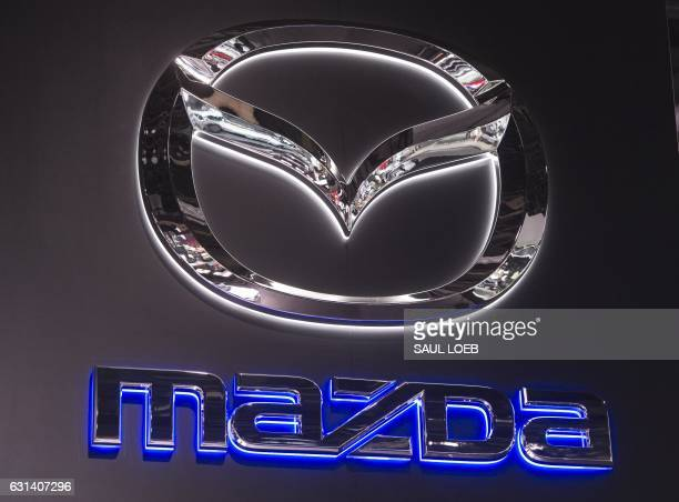 The Mazda logo is seen during the 2017 North American International Auto Show in Detroit Michigan January 10 2017 / AFP PHOTO / SAUL LOEB