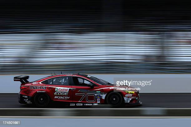 The Mazdaspeed/Speedsource Mazdaspeed/Mazda/Castrol Mazda 6 GX driven by Sylvain Tremblay and Tom Long races during the GrandAm Rolex Sports Car...