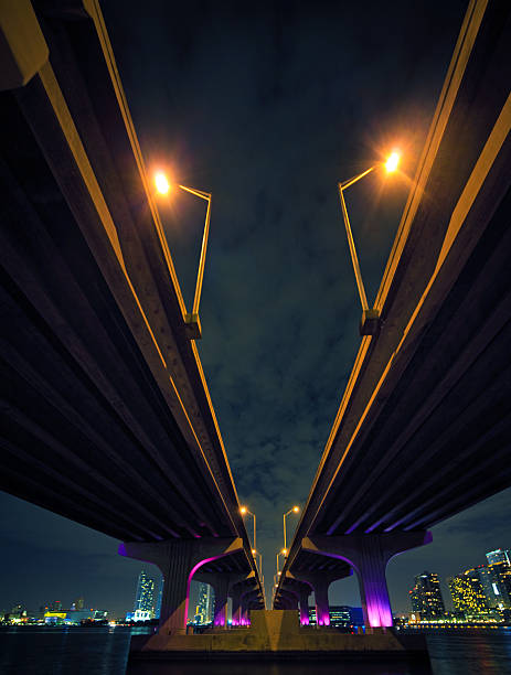 The McArthur Causeway in Miami