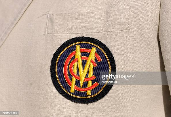 The MCC club emblem worn on the blazers of MCC members