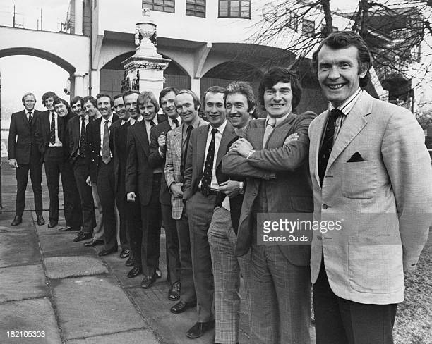 The MCC cricket team pose at Lord's Cricket Ground in northwest London before their tour of the West Indies 31st December 1973 From left to right...