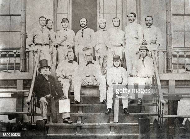 The MCC England cricket team before leaving for the 1863 Tour of Australia at Lord's Cricket Ground in London on 1st October 1863 Top row left to...