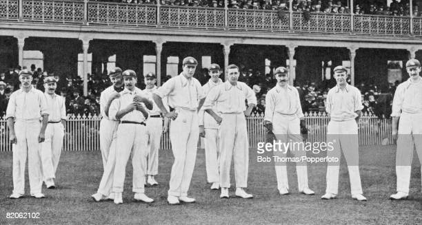 The MCC team on the field in Australia during their successful 190304 tour when they regained the Ashes winning the Test Match series 32 Albert...