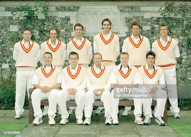 The MCC team prior to their match against Sussex the reigning County champions at Lord's cricket ground 9th April 2004 Back row Ian Bell James...