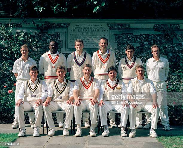 The MCC team prior to their match against the Minor Counties XI at Lord's cricket ground in London 5th September 1995 The match played to celebrate...