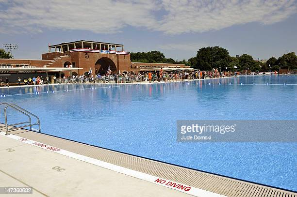 The McCarren Park Pool reopened after an extensive rennovation on June 28 2012 in the Brooklyn borough of New York City