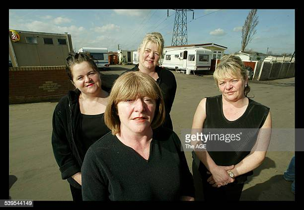 The McCarthy sisters pictured outside Kakthleen McCarthy's mobile home Row involving Opposition leader Michael Howard's sudden involvement with the...
