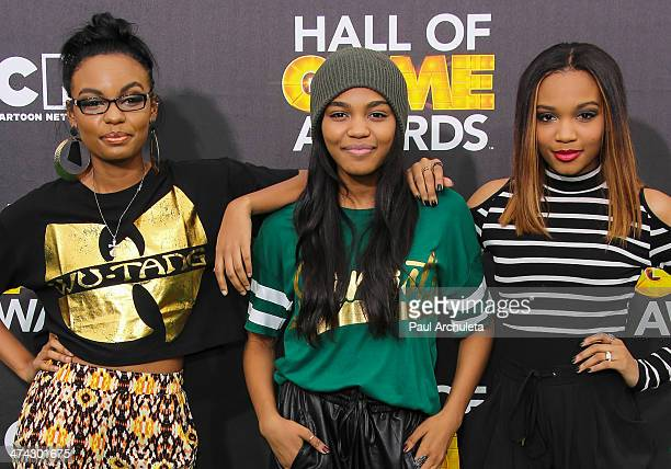 The McClain Siaters Sierra McClain China Anne McClain and Lauryn McClain attend the Cartoon Network's Hall Of Game Awards at Barker Hangar on...
