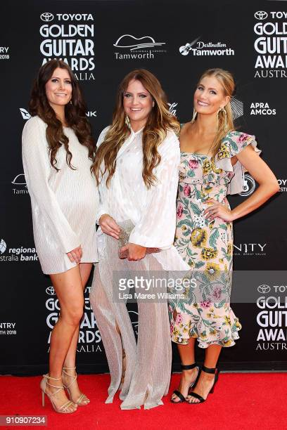 The McClymonts arrive at the 2018 Toyota Golden Guitar Awards on January 27 2018 in Tamworth Australia