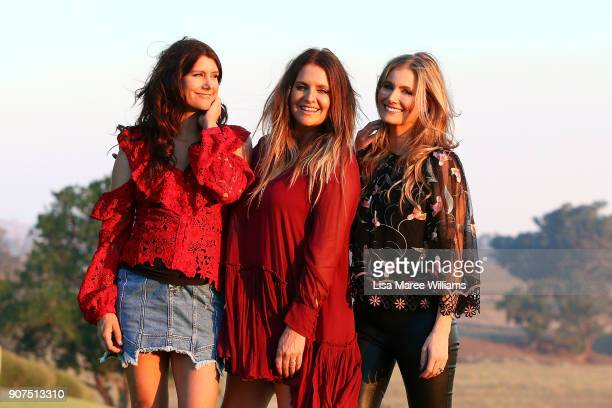 The McClymonts attend a media event at Goonoo Goonoo Station during the Toyota Country Music Festival Tamworth on January 20 2018 in Tamworth...