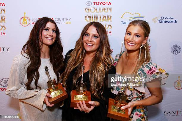 The McClymonts win the Golden Guitar for 'Australian Country Music Album of the Year' during the 2018 Toyota Golden Guitar Awards on January 27 2018...