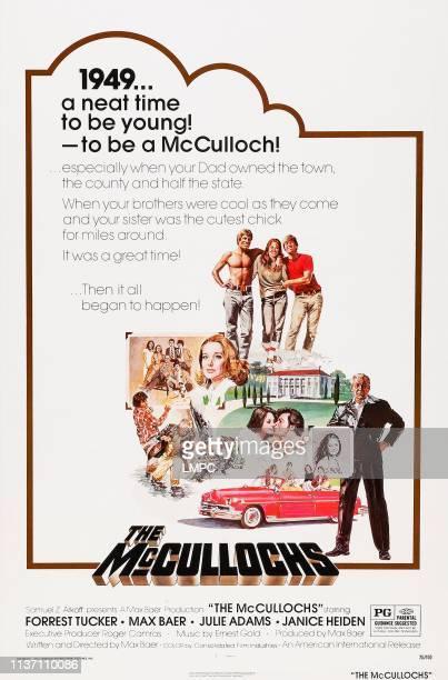 The Mccullochs poster US poster art from bottom left Janice Heiden Max Baer Jr Forrest Tucker 1975