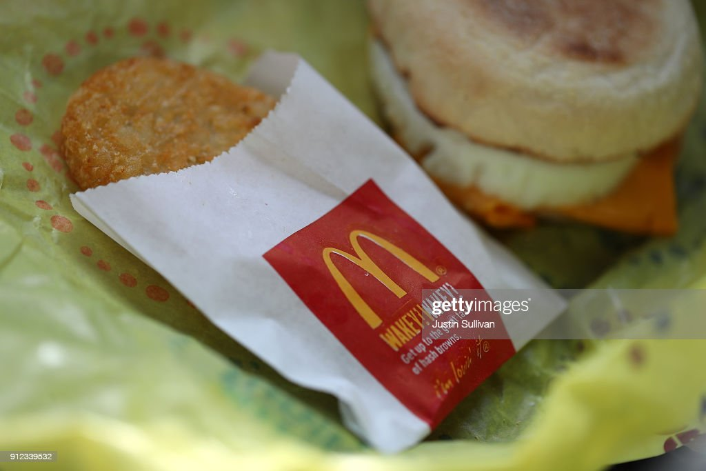 McDonald's Q4 Same Store Sales Growth Rises To Highest Level In 6 Years : News Photo