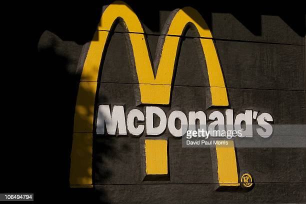 The McDonald's logo is seen outside a McDonald's restaurant on November 3 2010 in San Francisco California San Francisco became the first city in the...
