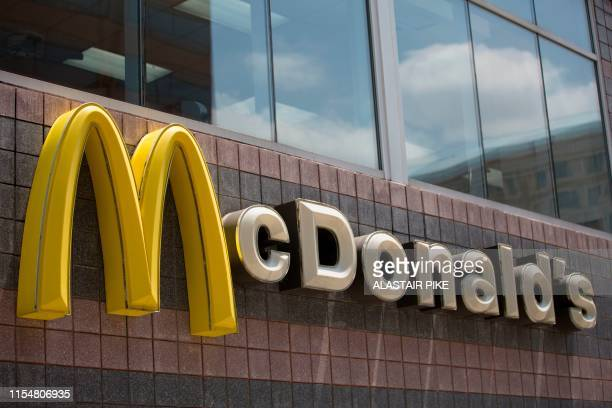 The McDonald's logo is seen outside a restaurant in Washington DC on July 9 2019