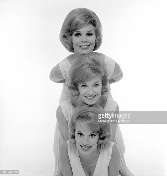 The McGuire Sisters Christine Phyllis and Dorothy pose for a portrait circa 1960 in New York City New York