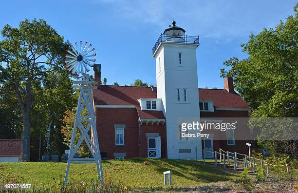 CONTENT] The McGulpin Point Lighthouse sits on the Straits of Mackinac on Lake Michigan and is one of the oldest surviving lighthouses in the Straits