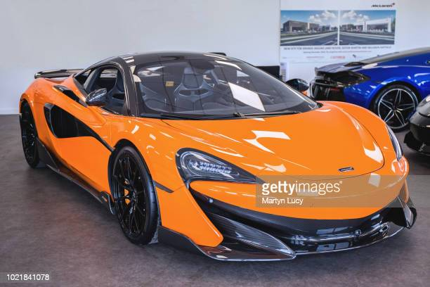 The McLaren 600LT Seen on display at McLaren in Hatfield United Kingdom The 600LT is McLaren's newest offering of sports car It is considered the...