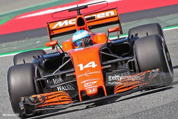 The McLaren of Fernando Alonso during thwe qualifying of the Formula 1 Spain GP held in the BarcelonaCatalunya Circuit on may 13 2017
