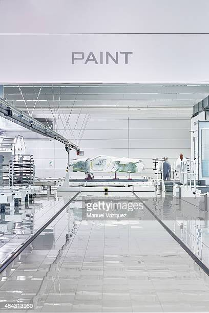 The McLaren Production Centre is photographed for El Pais Seminal on April 30 2015 in Woking England