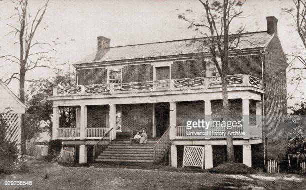 The McLean house in the village of Appomattox Court House Virginia the location of the surrender of the Confederate army of Robert E Lee to General...