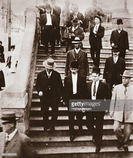 The McNamara brothers on their way back to jail California USA 1911 John and James McNamara were Los Angeles trade unionists who bombed the offices...