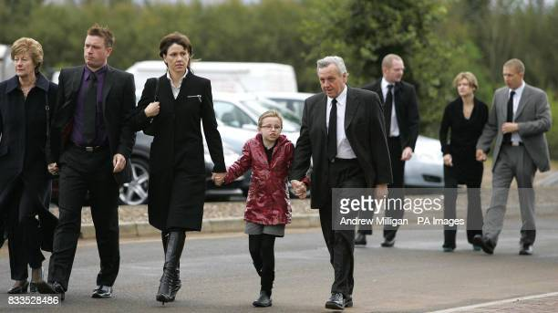 The McRae family Margaret , Stuart , Alison , daughter Hollie with Jimmy followed by Alister McRae, arrive at the funeral of former quad bike...