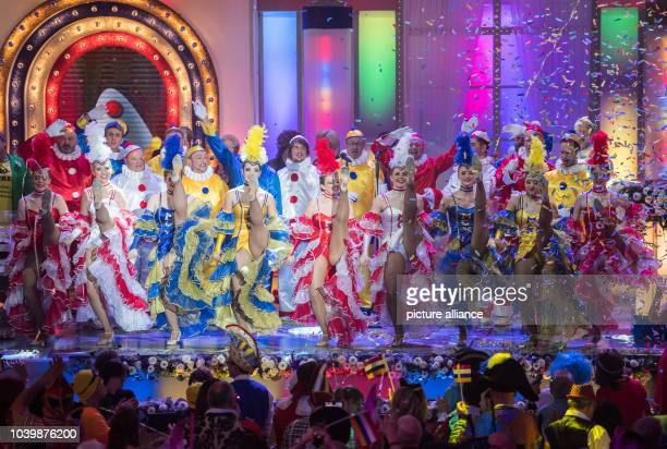 The MCV ballet dances on stage during the general rehearsal for the Carnival television special 'Mainz bleibt Mainz wie es singt und lacht' in Mainz...